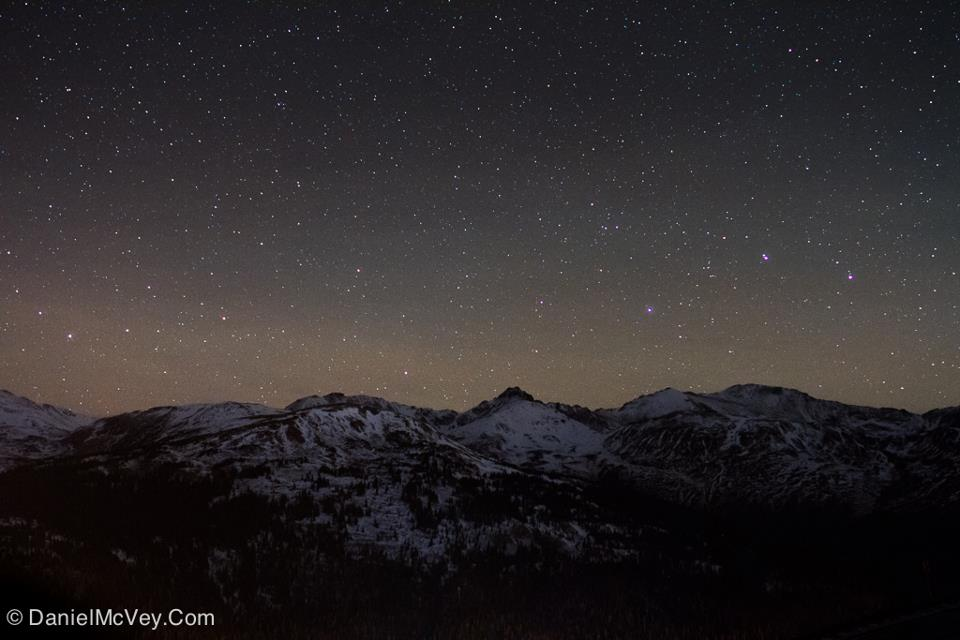 Stars over Mount Bethel in the Arapaho National Forest in Colorado.  View larger. via EarthSky friend Daniel McVey.  See more of Daniel's photos here.
