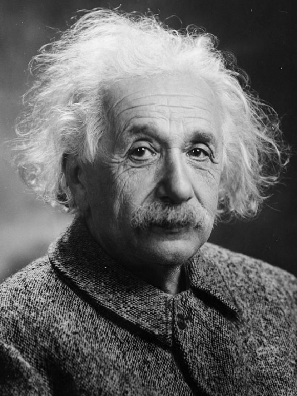 Albert Einstein in 1947, via Wikimedia Commons