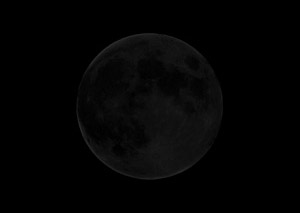 New moon: night side of moon facing Earth