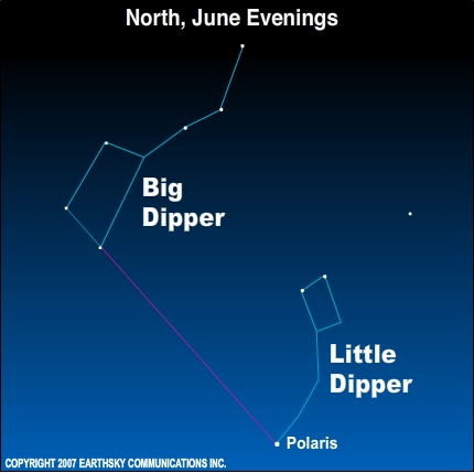 Big Dipper high in north on June evenings | Tonight | EarthSky