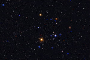 The Hyades.  Copyright Jerry Lodriguss/ AstroPix.com