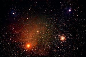 Antares and M4 image by stargazerbob@aol.com