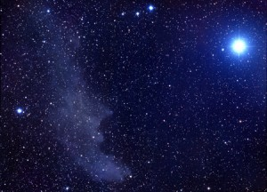 Blue-white Rigel via Clark Planetarium