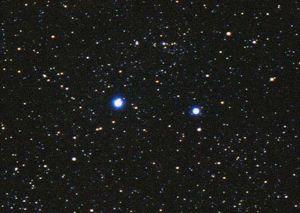 Shaula (l) and Lesath via Starfield Observatory
