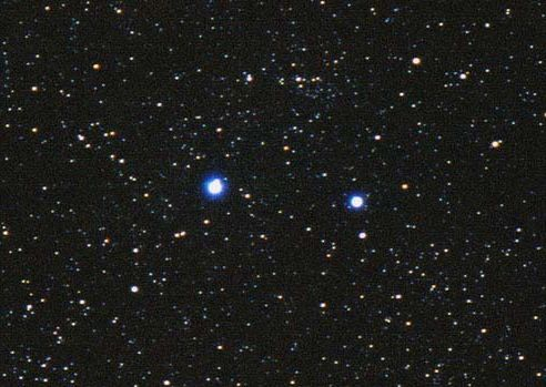 Shaula (l) and Lesath via Starfield Observatory
