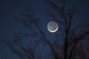 Earthshine on the young moon