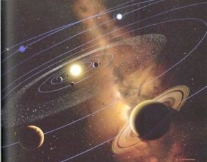 Artist's concept of solar system