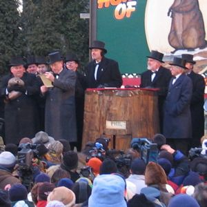 """... the great weather prognosticator, His Majesty, the Punxsutawney Groundhog."""