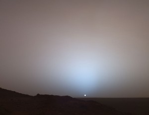 Sunset on Mars.