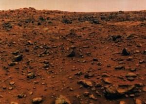 Mars' surface, 1976, via NASA's Viking 1