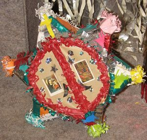 A Christmas-star, the main part of an old Hungarian Christmas-tradition called csillagozás, or star-play. (Jojojoe)