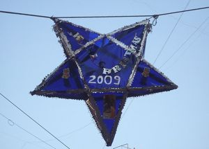 Christmas star over street in Mumbai (Rudolph.A.Furtado)