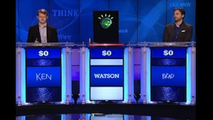 IBM's artificial intelligence program called Watson practices Jeopardy