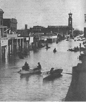 California flood of 1861-61, K street, Sacramento