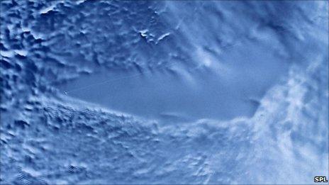 RADARSAT image of Lake Vostok. Credit: NASA