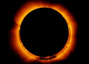 Jan. 4, 2011 solar eclipse, seen from space