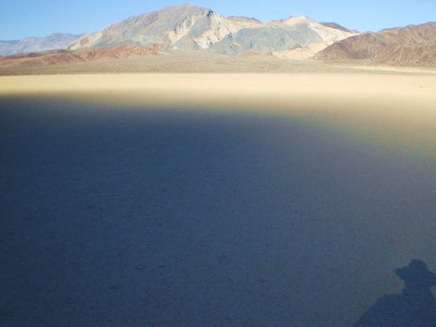 Earth shadow in Death Valley