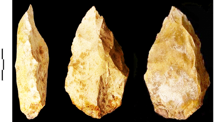 Hand axe from the Jebel Faya site. Image © Science/AAAS