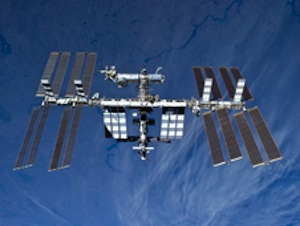 The International Space Station photographed STS-131 Discovery crew member. (NASA)