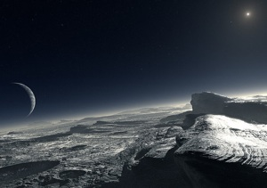 The surface of Pluto. Image Credit: ESO