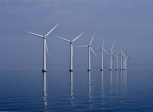 Wind farm in water