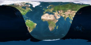 Earth at full moon