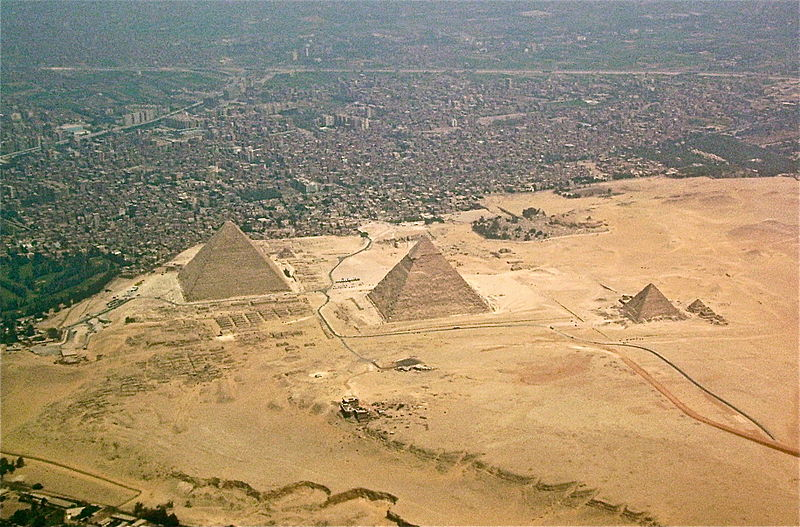 Giza in Egypt on May 8, 2009.  (Wikimedia Commons)