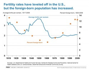 Fertility rates flatten in U.S., foreign-born population increases