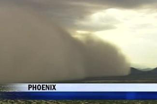 Giant dust storm near Phoenix July 18, 2011
