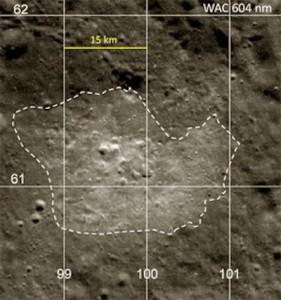 Bright anomaly region on moon