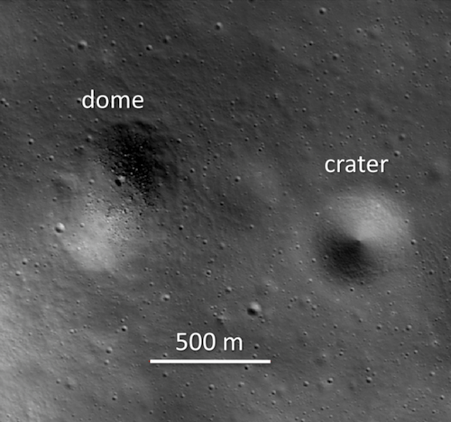 Dome on moon likely created by viscous lava