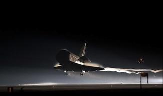 Space shuttle Atlantis lands for last time.
