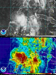 Visible/Rainbow Images of Tropical Storm Don
