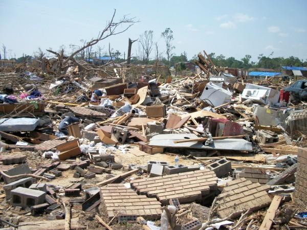 EF4 tornado damage in Pleasant Grove, AL on April 27 2011