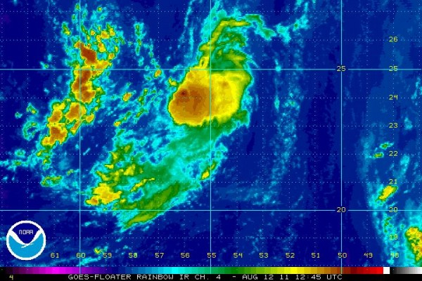 94 L rainbow image on August 12 2011