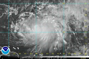 Visible Satellite Image of Tropical Storm Emily