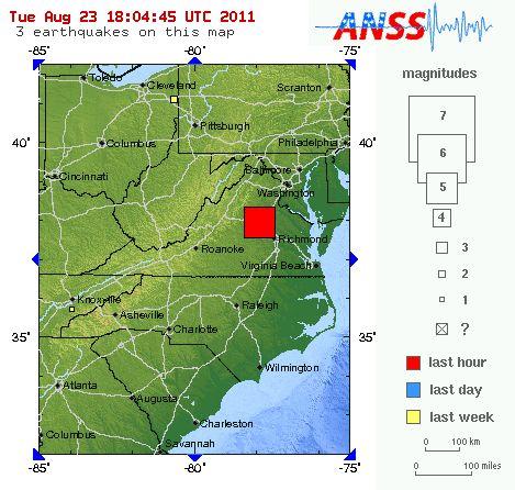 5.8 earthquake hits Washington D.C | Earth | EarthSky