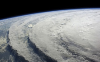 Hurricane Ike seen from the International Space Station