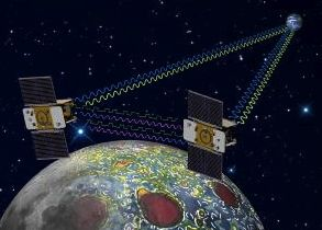 Twin GRAIL spacecraft will measure the moon's gravity.  (NASA)