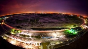 Night falls on Tevatron atom smasher, which ended operations September 30, 2011.