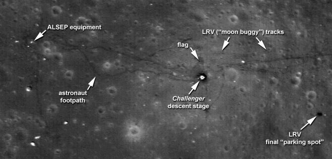 apollo tracks on moon - photo #20