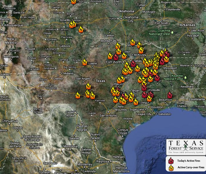 Texas Forest Service Fire Map Texas wildfires continue to burn | Earth | EarthSky