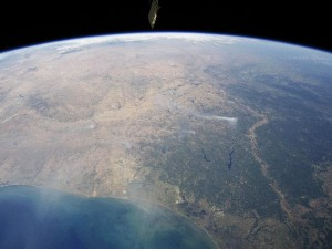 Texas fires seen from International Space Station (NASA)
