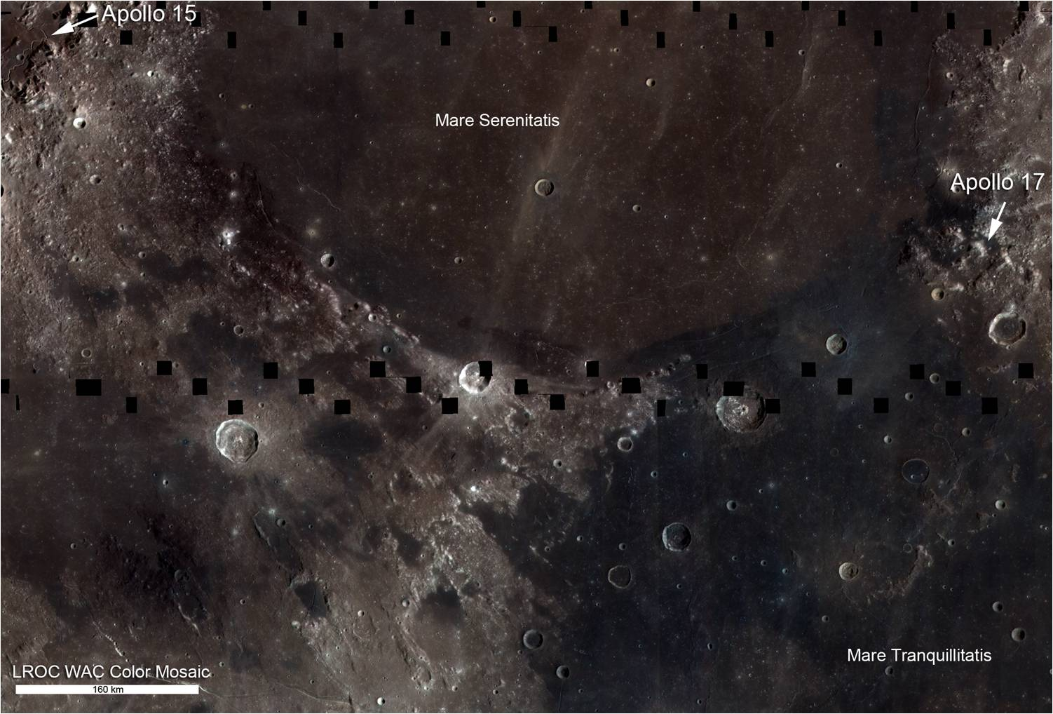 A map of the moon shows presence of titanium | Space | EarthSky