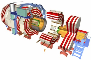 The CMS, or Compact Muon Solenoid experiment of the Large Hadron Collider