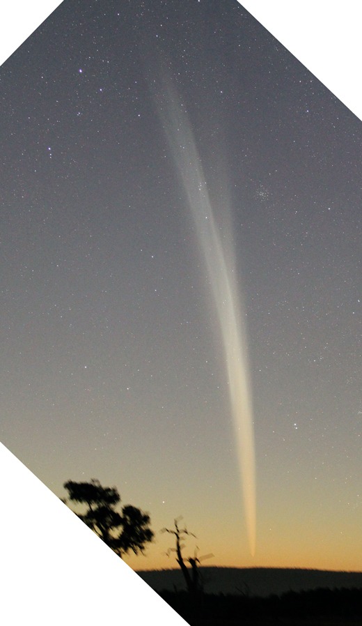 Fine streamers are clearly visible in this image of comet lovejoy