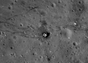 LRO image of Apollo 17 site. Image credit: NASA/GSFC/ASU.
