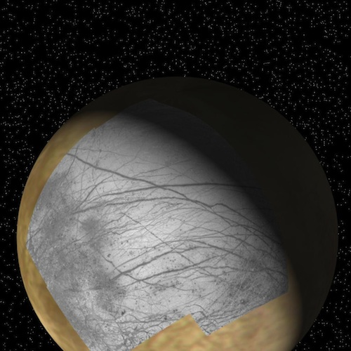Liquid water, salts might fuel chemistry for life on Jupiter's moon Europa