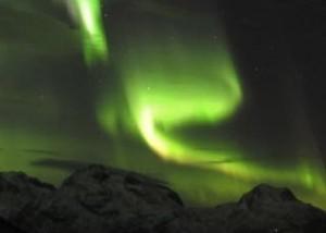 Aurora near Tromsoe, Norway Jan. 24, 2012.  AP via Physorg.com