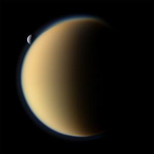 Titan.  (NASA/JPL/Space Science Institute)